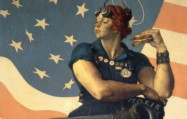 Norman Rockwell's Rosie the Riveter, a challenge to sexual stereotypes