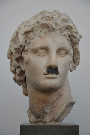 Alexander the Great, Hitler toothbrush mustache