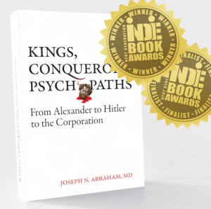 Cover of the nonfiction book, 'Kings, Conquerors, Psychopaths'.
