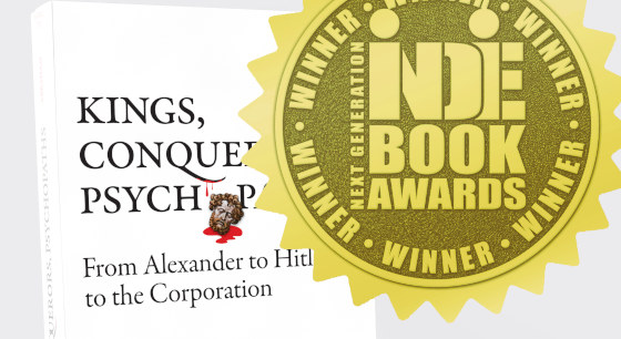 Kings, Conquerors, Psychopaths Wins International Book Award for Nonfiction