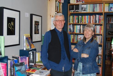 Diane Bailey and Geoff Young at Pen'rallt Gallerhy Bookshop
