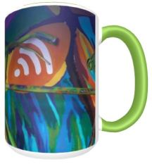 art galler mug back