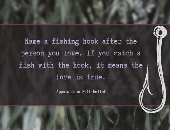 Fishing Hooked on Love card front