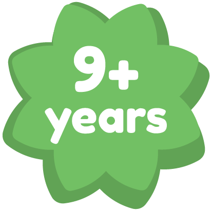 9+ years
