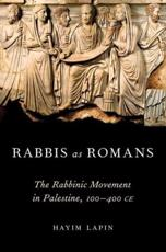 ISBN: 9780195179309 - Rabbis as Romans
