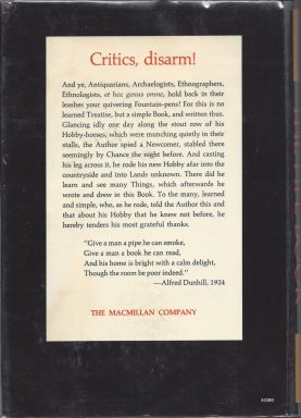 The Pipe Book - back cover