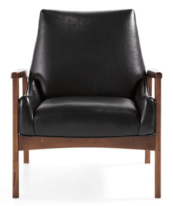 KEROUAC 31 LEATHER CHAIR IN LIVIA JET