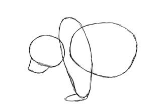 03. Как нарисовать медведя поэтапно