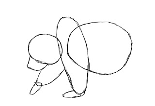 04. Как нарисовать медведя поэтапно