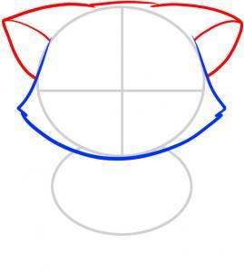 03. Как нарисовать котенка в мультяшном стиле