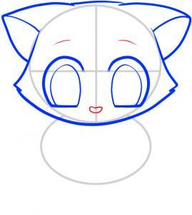 05. Как нарисовать котенка в мультяшном стиле