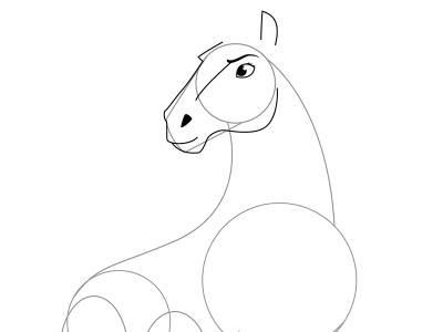 04. Как нарисовать лошадь поэтапно