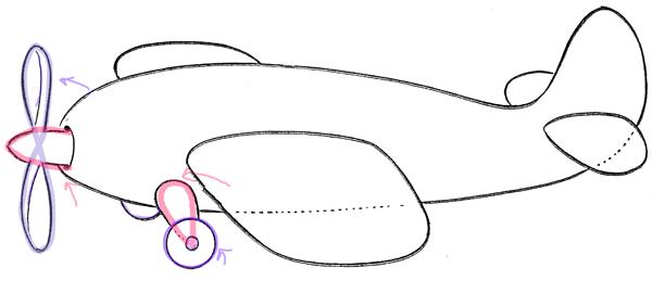 05. Как нарисовать самолет для детей