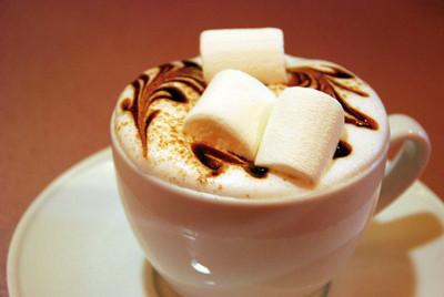 Hot Chocolate + Cream & Marshmellows