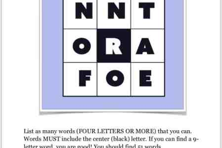 Play A Word Game?