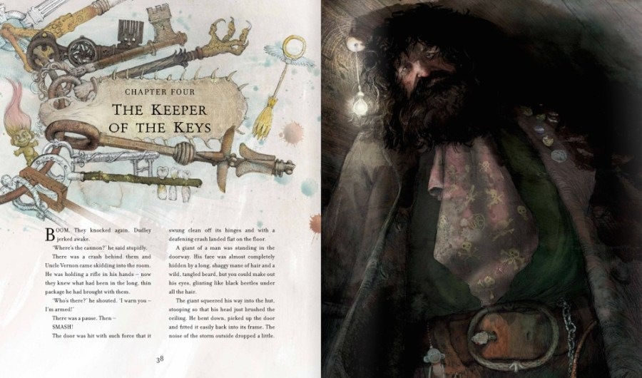Harry Potter Illustrated Edition Hagrid is the Keeper of Keys