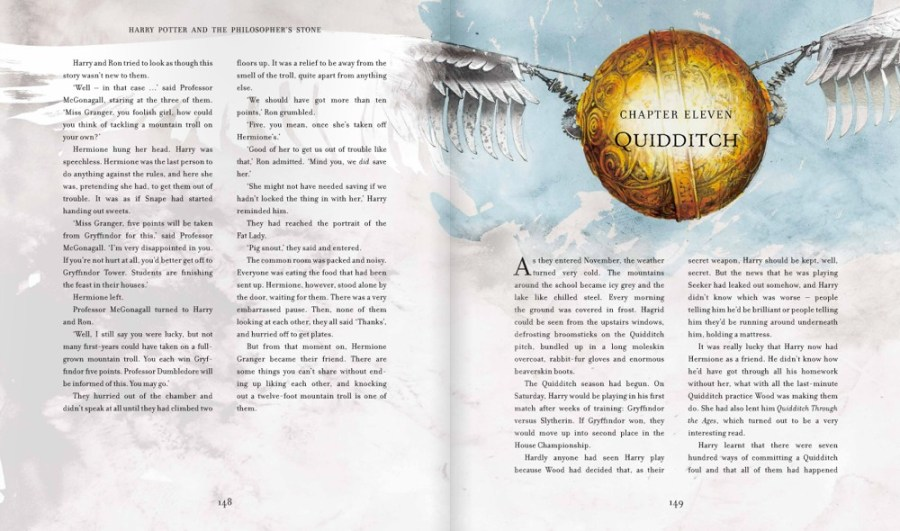 Harry Potter Illustrated Edition shows the Snitch for Quidditch
