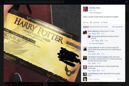 Cursed Child ticket