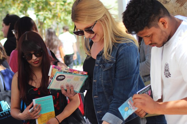 Fans get a hold of Advanced Readers Copies, some of the most coveted freebies at YALLWEST.