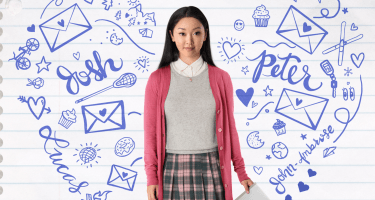 Lara Jean Covey from the poster of Netflix's 'To All the Boys I've Loved Before,' based on the YA novel by Jenny Han.