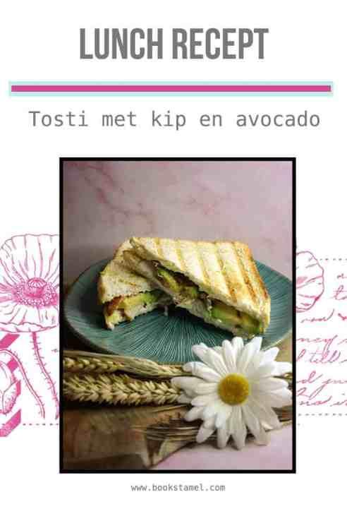 Tosti met kip en avocado