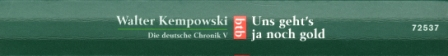 28 Kempowski - Uns geht's ja noch gold