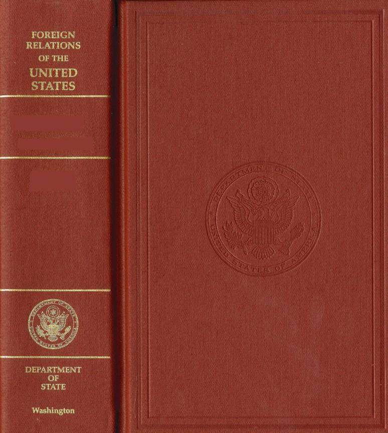 Foreign Relations of the United States series at http://bookstore.gpo.gov