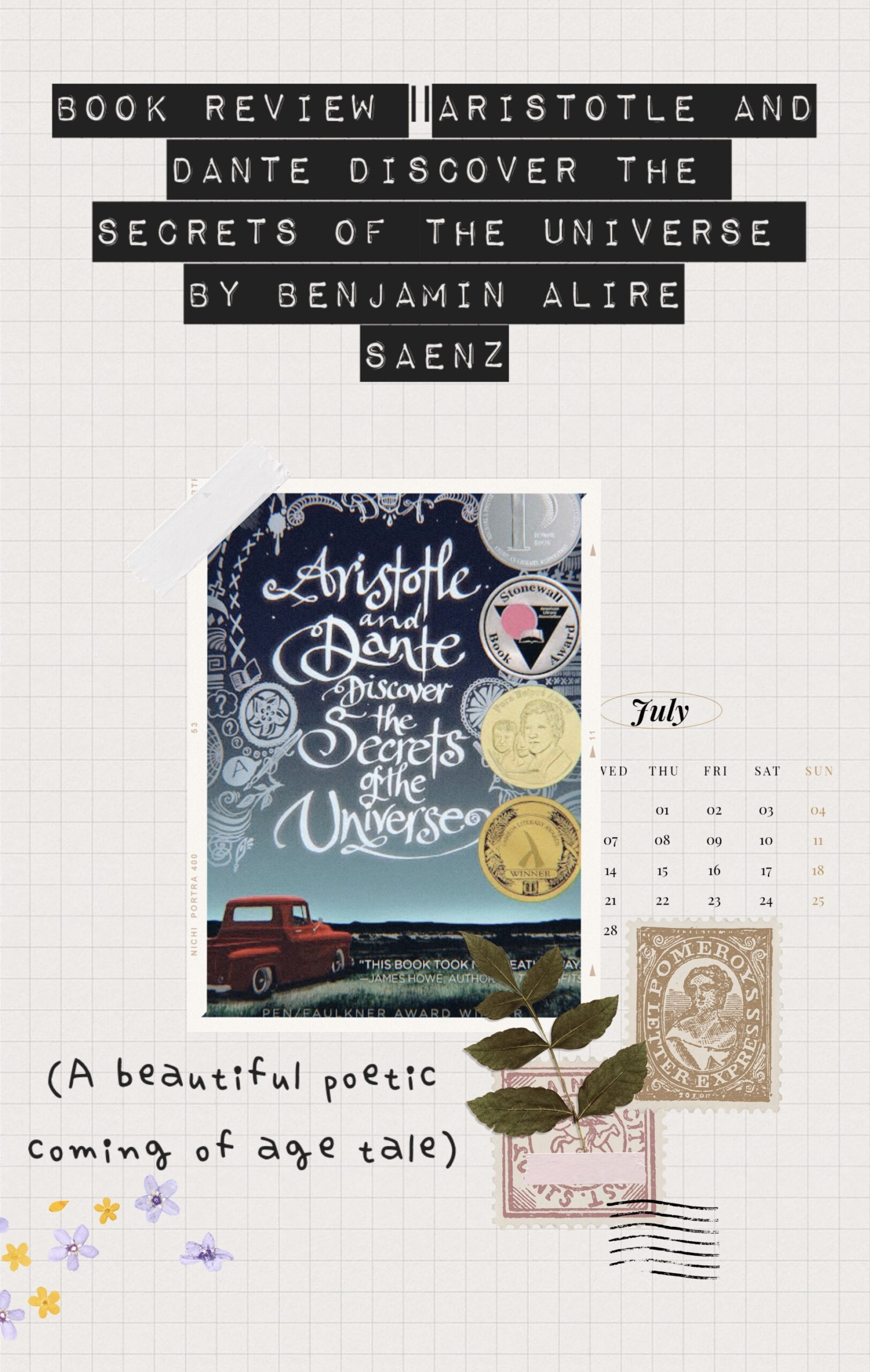 Book Review Aristotle and Dante discover the secrets of the universe by Benjamin Alire Saenz