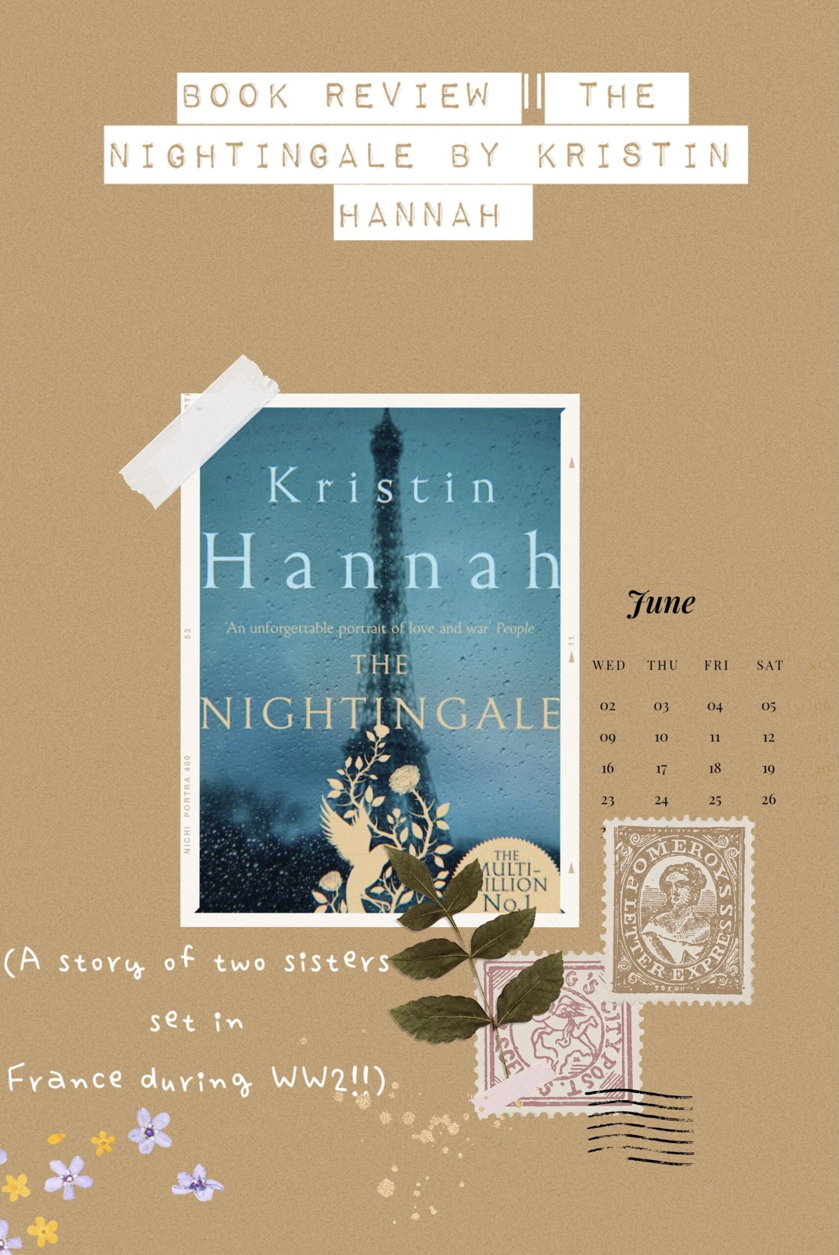 Book Review The Nightingale by Kristin Hannah