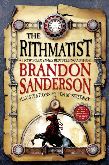 Book cover of The Rithmatist by Brandon Sanderson published by Tor Teen