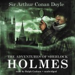 CD cover of The Adventures of Sherlock Holmes by Arthur Conan Doyle read by Ralph Cosham published by Blackstone Audio