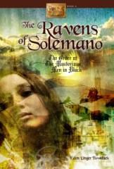 book cover of Ravens of Solemano by Eden Unger Bowditch published by Bancroft Press