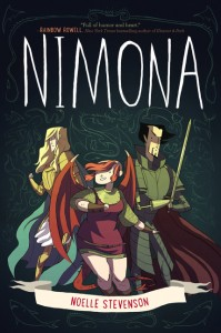book cover of Nimona by Noelle Stevenson published by HarperTeen