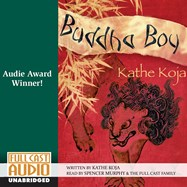 CD cover of Buddha Boy by Kathe Koja   Read by Spencer Murphy Published by Full Cast Audio