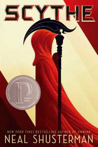 book cover of Scythe by Neal Shusterman published by Simon Schuster    recommended on BooksYALove.com