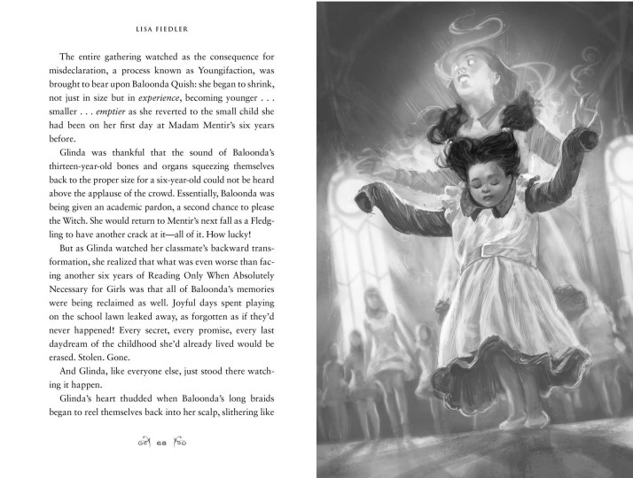 text and illustration from A Fiery Friendship by Lisa Fiedler, art by Sebastian Giacobino, published by McElderry Books | recommended on BooksYALove.com