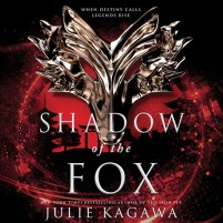 CD cover of Shadow of the Fox,  by Julie Kagawa | Read by Joy Osmanski, Brian Nishii, Emily Woo Zeller Published by HarperAudio | recommended on BooksYALove.com