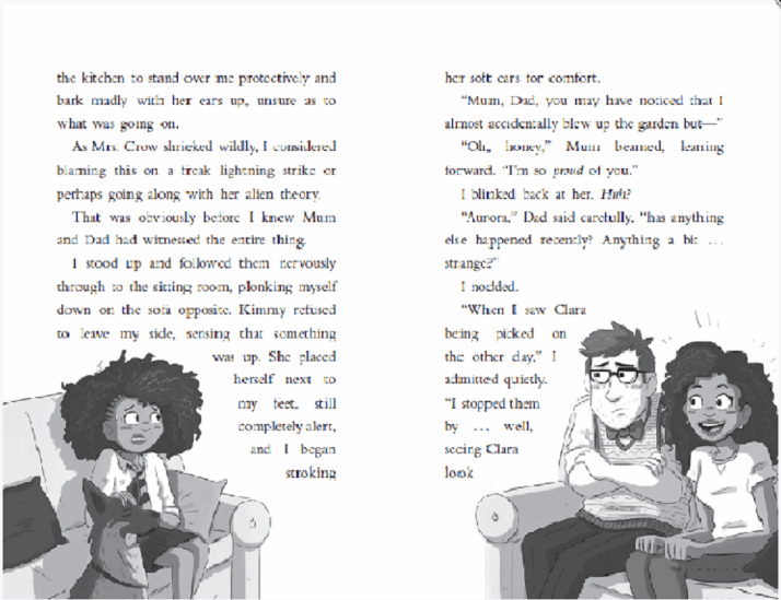 sample page from Lightning Girl, by Alesha Dixon & Katy Birchall
