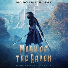 CD cover of Mark of the Raven, by Morgan L. Busse. Read by Jaimee Draper. Published by Oasis Audio | recommended on BooksYALove.com