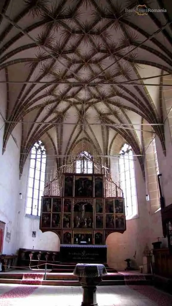 The altar of Biertan Church