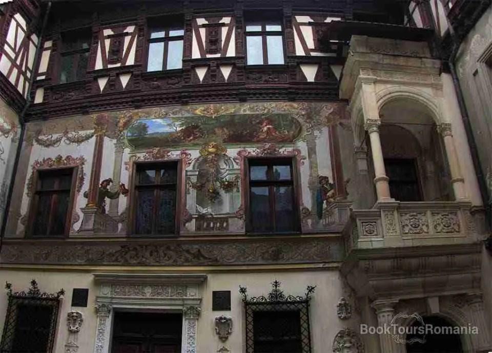 Peles interior courtyard paintings