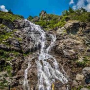 Capra Waterfall on Transfagarasan Road