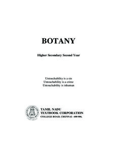 Biology Botany Higher Secondary Second Year