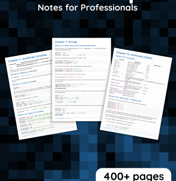 Download JavaScript Notes For Professionals