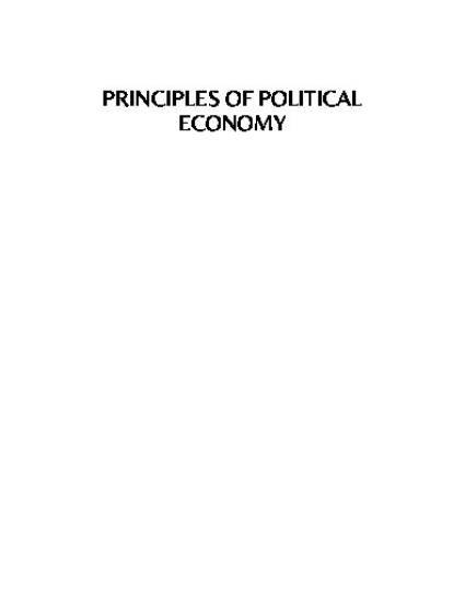 Principles of Political Economy by Daniel E. Saros