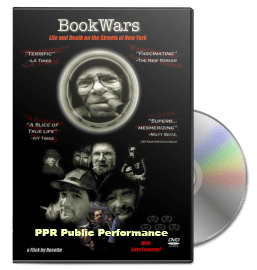 'BookWars' DVD with PPR Public Performance rights for universities, libraries, and organizations