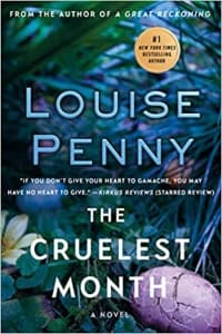 """""""The Cruelest Month"""" by Louise Penny (Book cover)"""