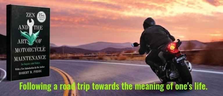 """Zen and the Art of Motorcycle Maintenance"" by Robert Maynard Pirsig (Header)"