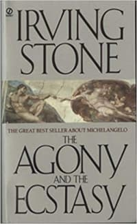 """""""The Agony and the Ecstasy"""" by Irving Stone (Book cover)"""