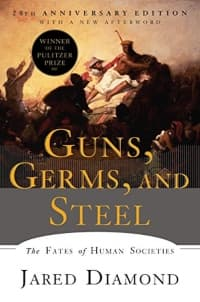 """""""Guns, Germs and Steel"""" by Jared Diamond (Book cover)"""